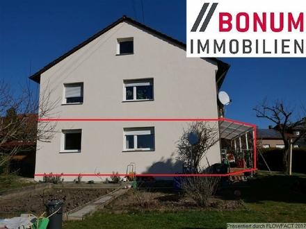 4-Zimmer-Wohnung mit großer Terrasse und Gartenanteil in ruhiger Wohnlage