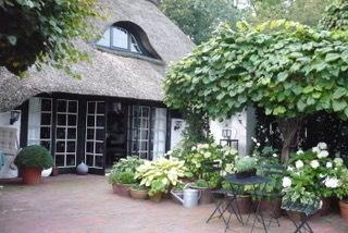 Reetgedecktes Bauernhaus, Terrasse (2014!)