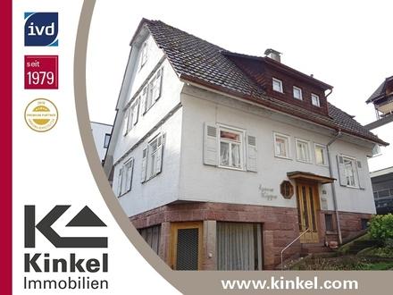 Einfamilienhaus mit Ladeneinheit und sehr großer Garage in ruhiger, zentraler Lage von Bad Wildbad