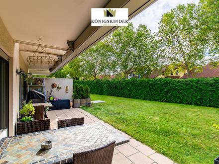 Sehr schöne 3,5 Zimmer Erdgeschoss-Wohnung mit großem Gartenteil in herrlicher Lage