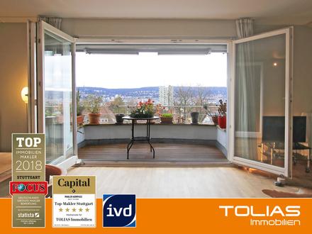 Blick in die Ferne! - Attraktive Wohnung mit Süd-Balkon, Gartenanteil und tollem Fernblick.