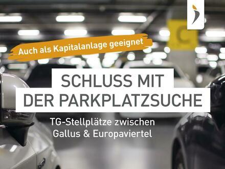 TG-Stellplätze als Kapitalanlage in modernem Neubau am Europaviertel/Gallus ab Herbst 2019
