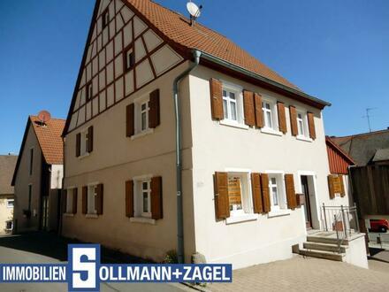 Fachwerk-Stadthaus im Zentrum vom Wilhelmsdorf