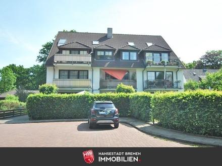 Burglesum / Schicke 1-Zimmer-Wohnung mit Gartenterrasse u. Stellplatz