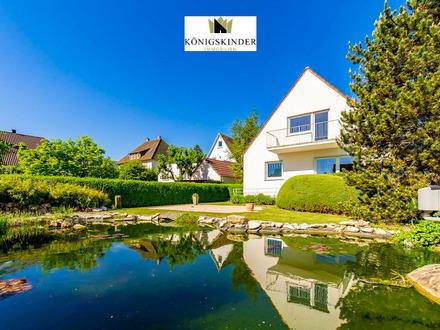 Verstecktes Idyll mit Seerosenteich und wunderschönem Garten! 2 FH-Wohntraum auf 227 qm!