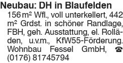 Neubau: DH in Blaufelden