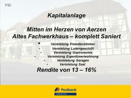 MFH/ Zimmer/Laden/Wohnung/Garagen - Rendite von 13 - 16%