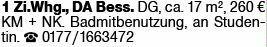1-Zimmer Mietwohnung in Darmstadt (64285)
