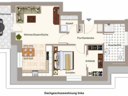 Moderne Dachgeschosswohnung in bester Lage