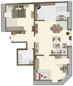 Wohnung mit Ausblick