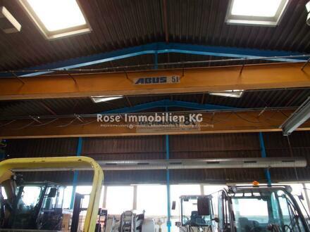 ROSE IMMOBILIEN KG: 5 + 8t Kranbahn - Lager- / Produktionshalle in Rinteln