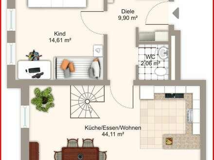Erdgeschoßwohnung auf zwei Etagen in Mühldorf am Inn