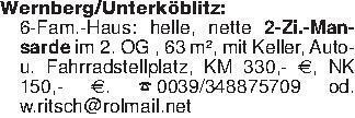 Wernberg/Unterköblitz: 6-Fam.-...