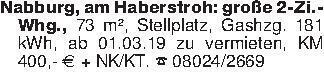 Nabburg, am Haberstroh: große...