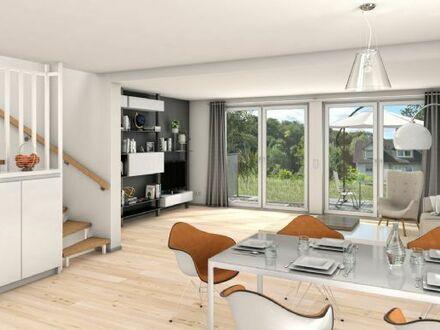 NEUBAU:Moderne Doppelhaushälfte mit schönem Garten