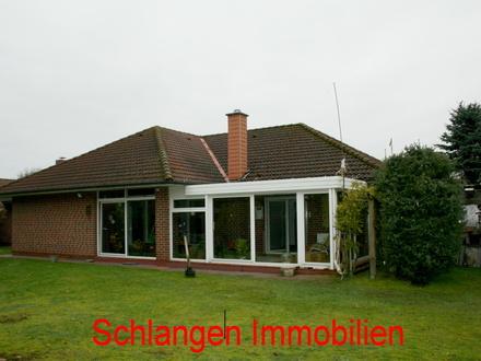 Objekt Nr.: 17/633 Bungalow mit Wintergarten, Garage u. Carport im Feriengebiet Saterland OT Scharrel
