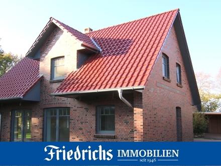 Neubau-Einfamilienhaus mit überdachter Südterrasse und Carport in Westerstede-Ocholt