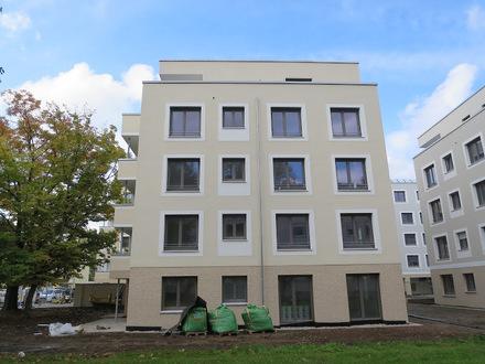 Neubau - schöne, helle 3-Zimmer-Erdgeschoss-Wohnung Terrasse und Mietergarten