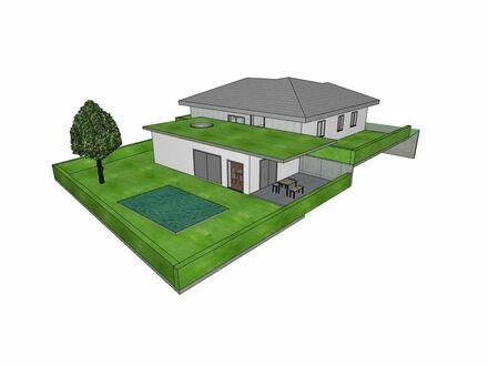 Ökologisches Wohnbauvorhaben im Grünen: Großzügiger Bungalow 158m² Wohnfläche mit Garten und Doppelgarage in Kirchberg