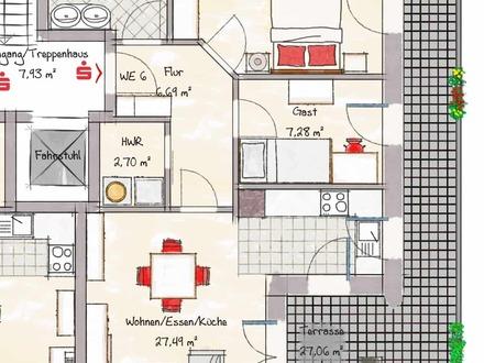 Wohnung 6 - nicht maßstabsgerecht