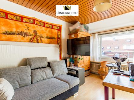 1-Zimmer-Dachgeschosswohnung mit kleinem Balkon und Garage in begehrter Lage