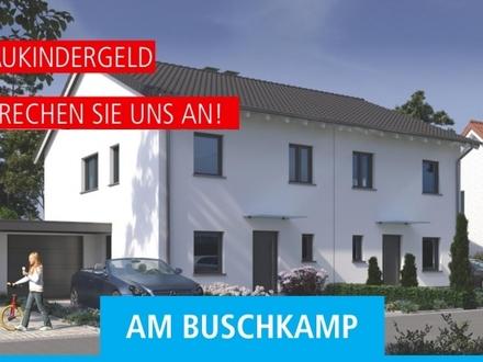 Geplante Neubau Doppelhaushälfte mit Garage // KfW 55 Standard
