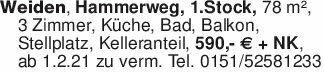 Weiden, Hammerweg, 1.Stock, 78...