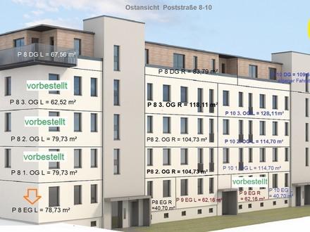 3 Raum - Erdgeschosswohnung mit Terrasse - Erstbezug nach Komplettumbau