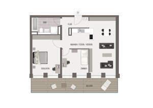 3-Zimmer-Wohnung in der Bismarckstraße