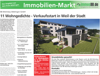 11 Wohngedichte - Verkaufsstart in Weil der Stadt