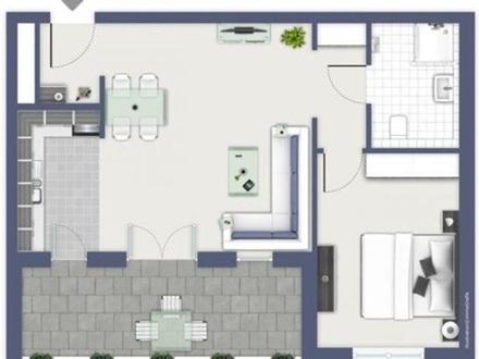 Exklusive 2-Zimmer-Penthouse-Wohnung mit unverbaubarem Blick