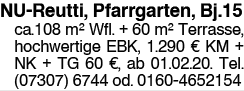 NU Reutti, Pfarrgarten, Bj.15