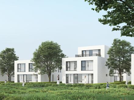 Modernes Plusenergiehaus als Doppelhaushälfte in Lotte