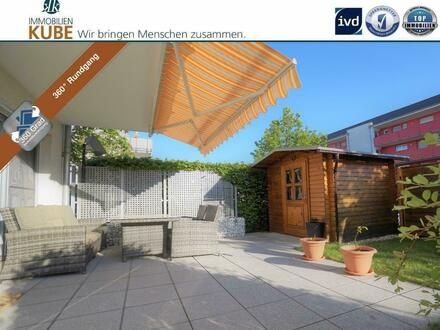 Neuwertige Gartenwohnung mit WOW-Effekt! 2 Zimmer-Maisonette mit Hobbyraum, Terrasse und Garten