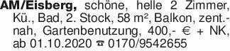 AM/Eisberg, schöne, helle 2 Zi...