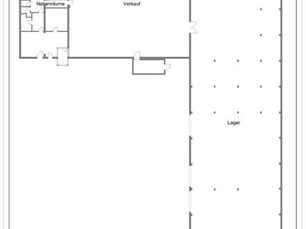 Großes Gewerbegrundstück mit Büro, Betriebswohnung, Verkaufs- und Lagerflächen