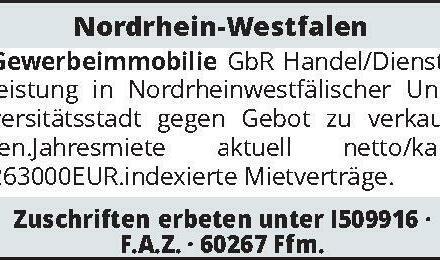 Nordrhein-Westfalen – Gewerbeimmobilie