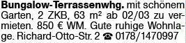 2-Zimmer Mietwohnung in Wiesbaden (65197)