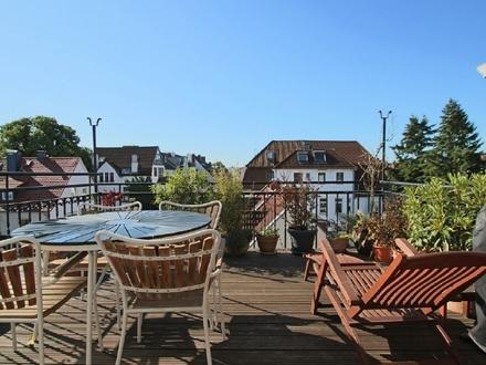 Traumhafte 4-Zimmer-Maisonette-Wohnung mit Dachterrasse in überaus begehrter Wohnlage