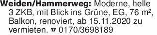 Weiden/Hammerweg: Moderne, he...