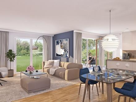 Villa Jakob - Moderne und barrierefreie 3-Zimmer-Wohnung mit Hobbyraum und ca. 250 m² Garten