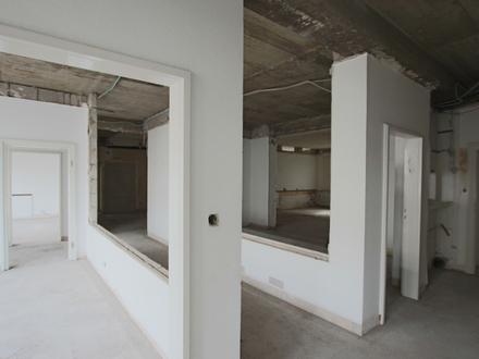 Entkernte Büro bzw. Praxisfläche nach Wunsch zu gestalten