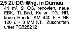 2,5 Zi. DG Whg. in Dürnau