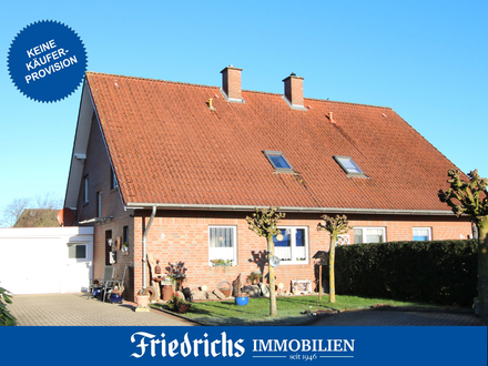 Keine Käuferprovision! Gepfl. DHH mit Carport-Garage und Garten in Barßel-Neuland / ruhige Wohnlage