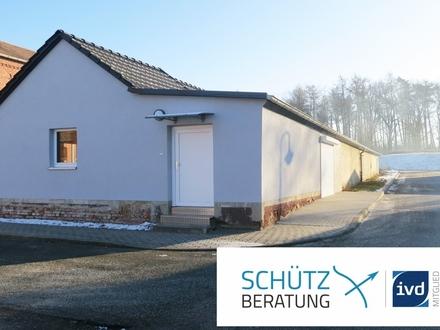 Gewerbehalle klein und fein: komplett beheizbar, frisch saniert, mit Büro- und Sanitärbereich!
