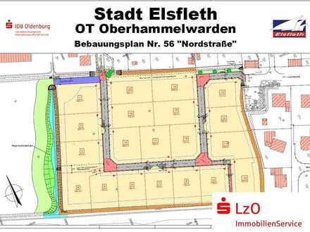 Baugrundstücke in der Nordstraße in Oberhammelwarden