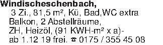 Windischeschenbach, 3 Zi., 81...