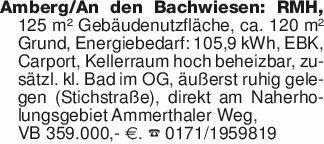 Amberg/An den Bachwiesen: RMH,...