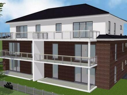 Neubau-Mehrparteienhaus mit sechs Wohneinheiten und Fahrstuhl im Haus. Wohnung Nr. 3 im Obergeschoss mit Balkon