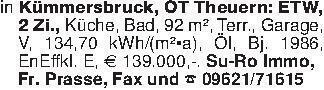 in Kümmersbruck, OT Theuern: E...